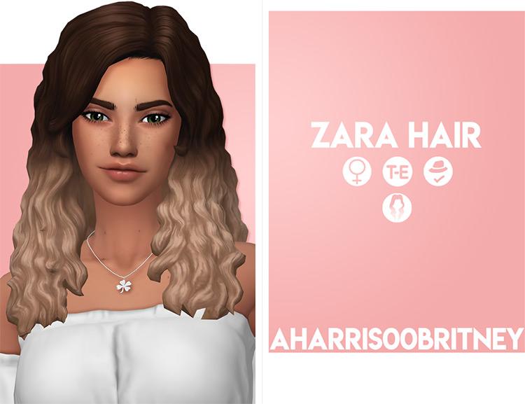 Zara Hair curly style CC