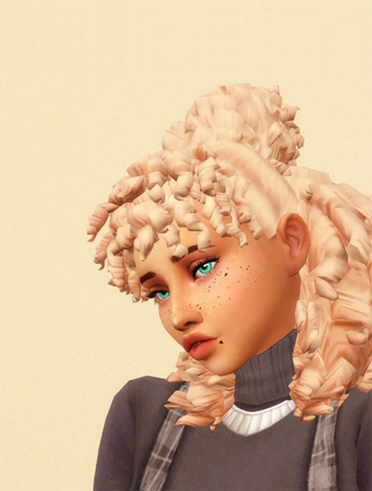 Up & Out Curls CC - The Sims 4
