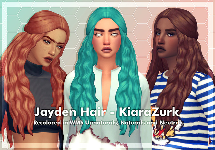 Jayden Hair from the Sims 4
