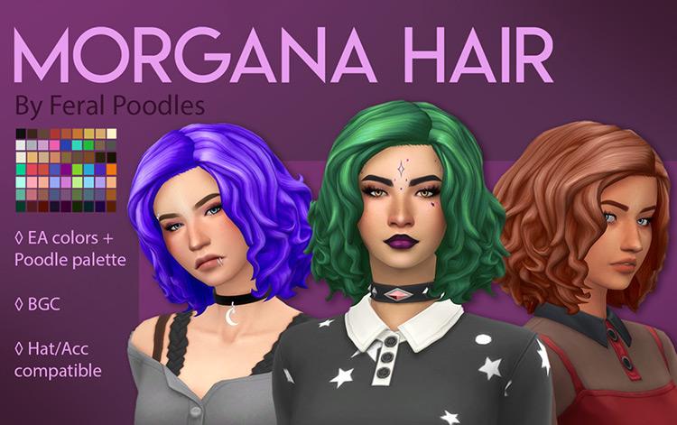 Screenshot Morgana Hair from the Sims 4