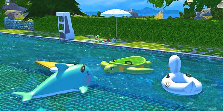 Josie Pool Floats CC set - Sims 4