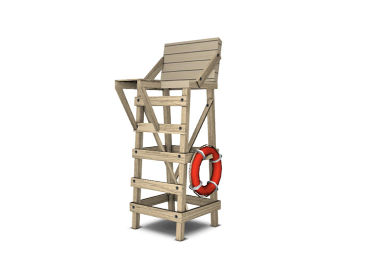 Vintage Lifeguard Chair CC for Sims 4