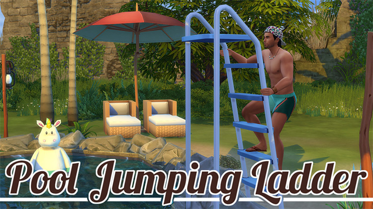 Pool Jumping Ladder - Sims 4 CC