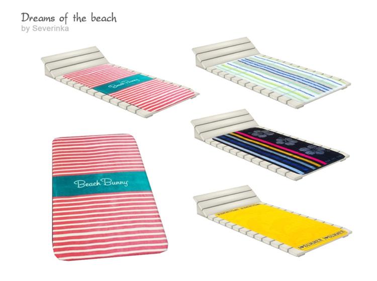 Poolside Beach Towels CC - Sims 4
