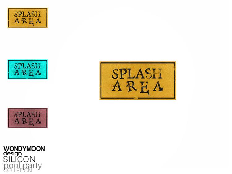 Splash Area Sign CC - Sims 4 Mod