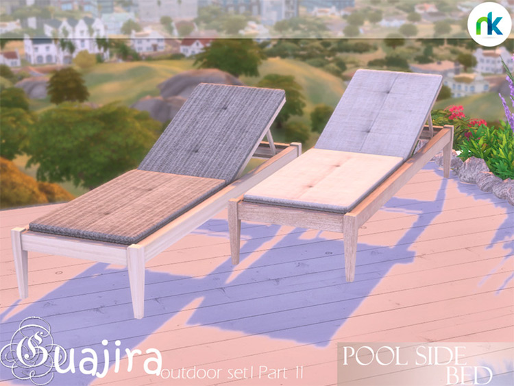 Guajira Poolside Bed -  Sims 4 Mod
