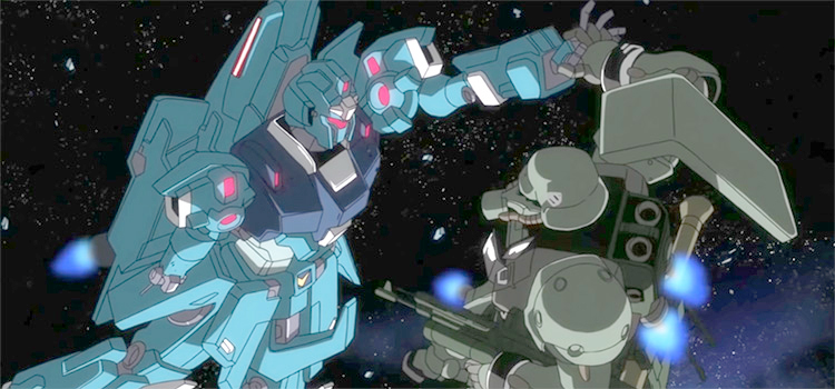 Mobile Suit Gundam battle screenshot