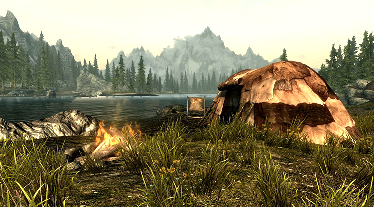 Portable Campsite Khajit Skyrim Mod