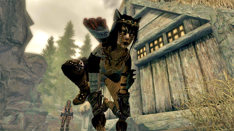 Khajit Sprint and Sneak Skyrim Mod