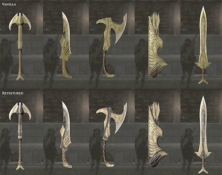 Elven Weapons for Silence Skyrim Mod