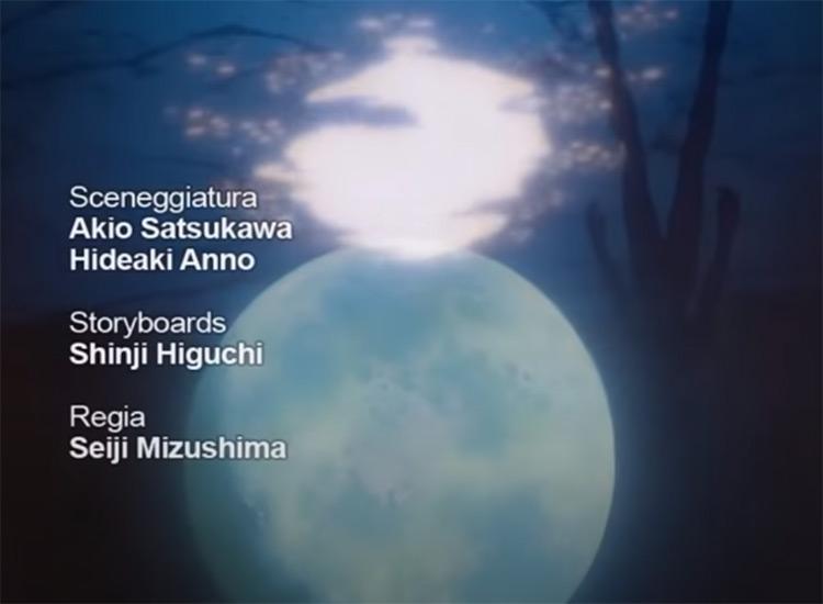 Neon Genesis Evangelion - Ending credits screenshot