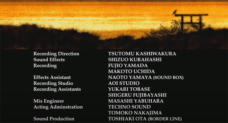 Samurai Champloo - Shiki no Uta ending credits
