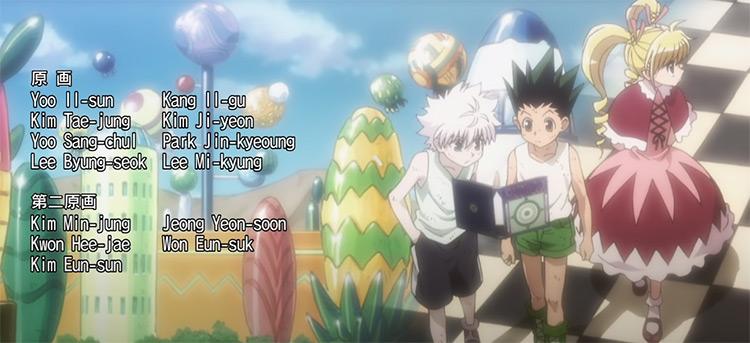 Hunter x Hunter - Anime ending credits