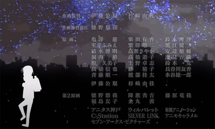 Erased - Anime ending credits