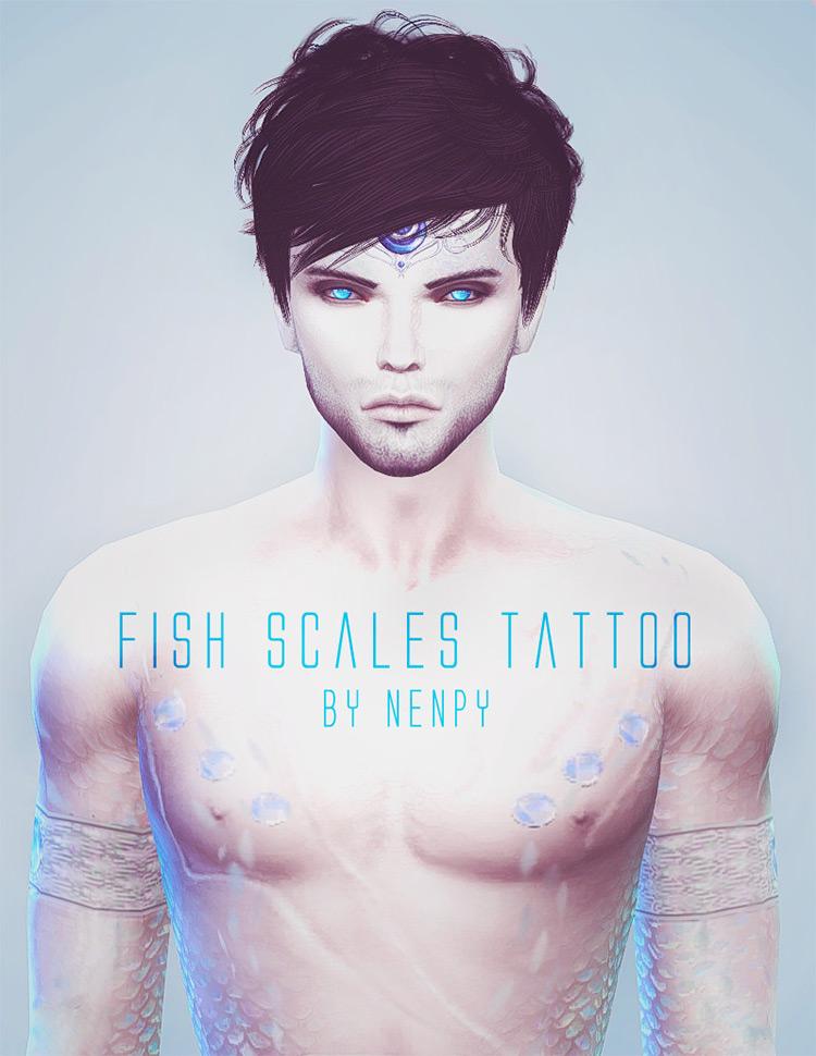 Fish Scales Tattoo TS4 CC