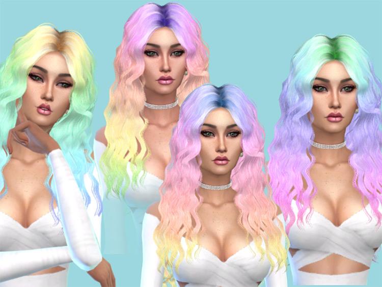 Britney Pastel Rainbow Hair TS4 CC