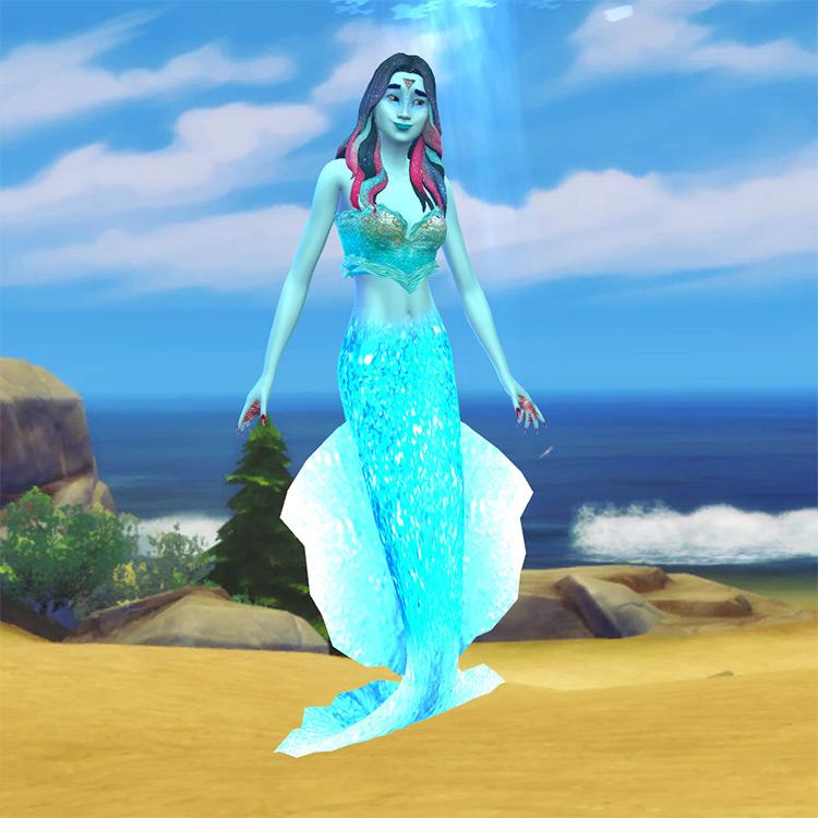 Luminous Water Mermaid Tail TS4 CC