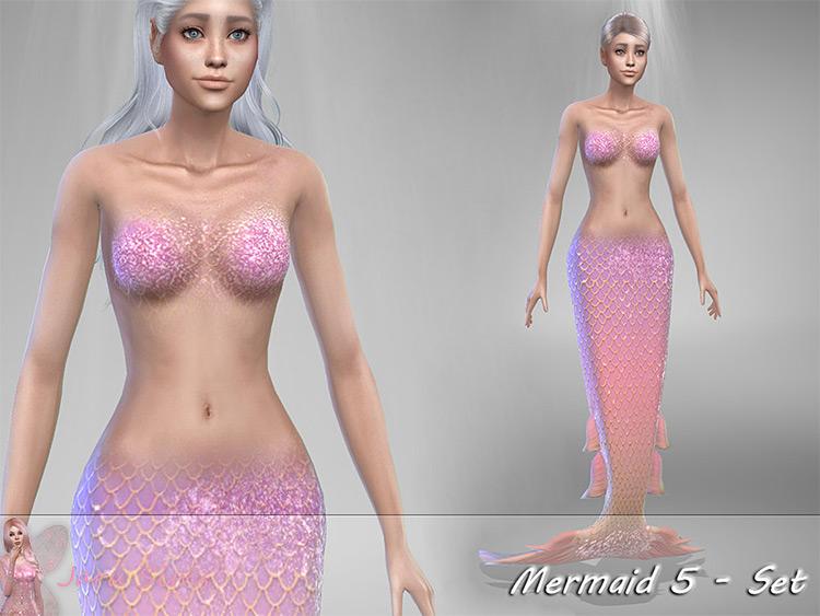 Mermaid 5 Set CC Sims4