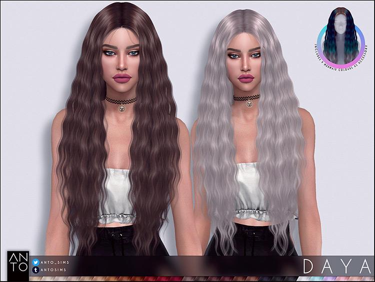 Daya Mermaid hair - TS4 CC