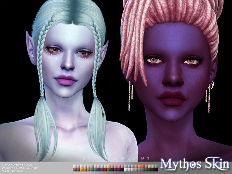 Mythos Skin for Female Mermaid TS4 CC