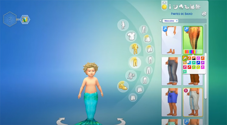 Mermaid Toddlers in The Sims 4