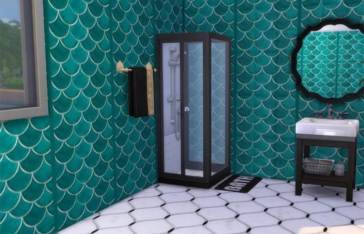 Mermaid Tiles for wallpaper - Sims 4 CC