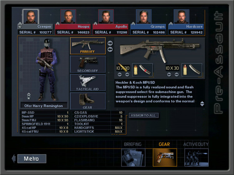 Custom Weapons Pack for SWAT 3