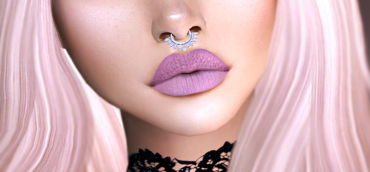 Pink School Girl Lipstick - lower face preview Sims4 CC