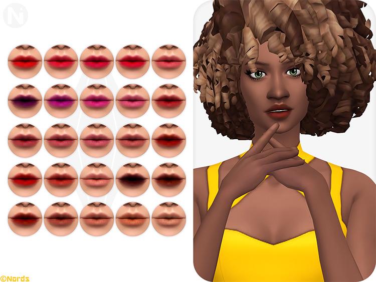 Tender Puff! Lipstick - Sims 4 CC