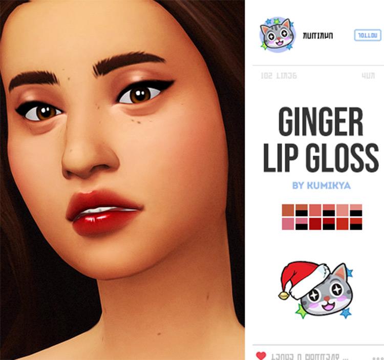 Ginger Lip Gloss - Sims 4 CC