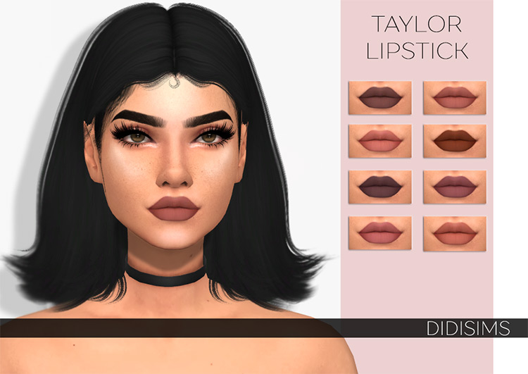 Taylor Lipstick styles seductive - Sims 4