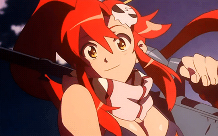 Yoko Littner Gurren Lagann anime screenshot