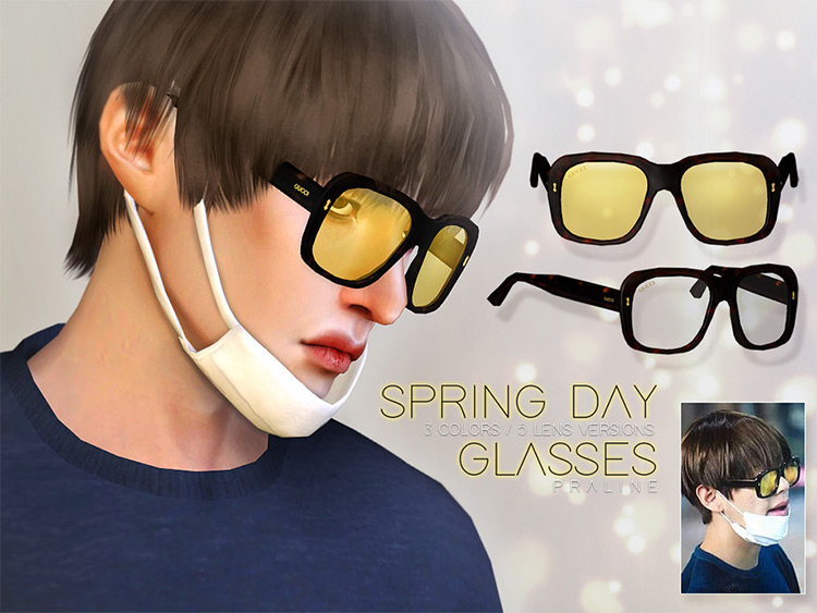 Spring Day Glasses mod for Sims 4