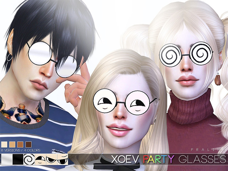 Party Glasses Sims 4 game mod