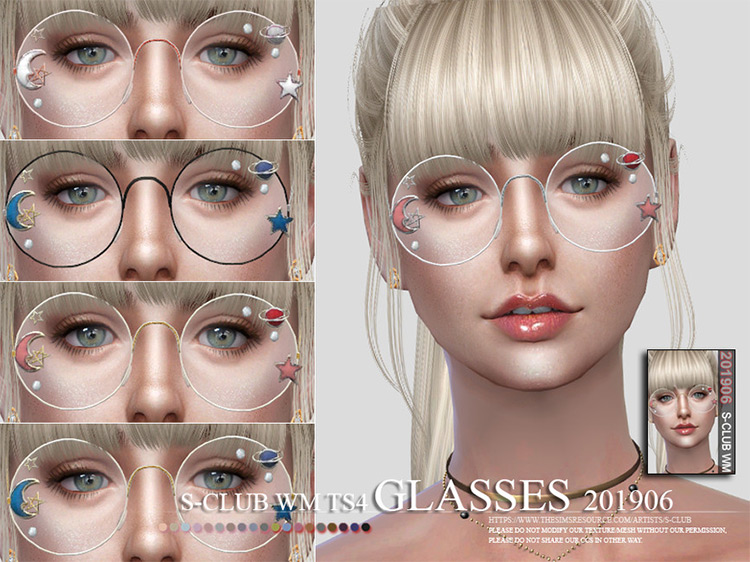 WM Glasses 201906 The Sims 4 mod