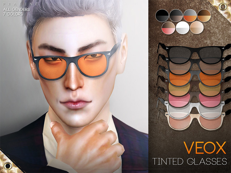 VEOX Tinted Glasses Sims 4 screenshot