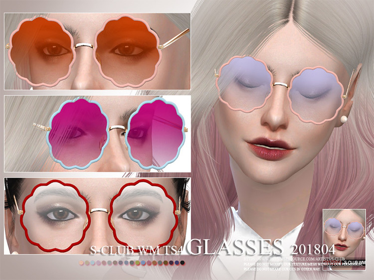 WM Glasses 201804 The Sims 4 mod