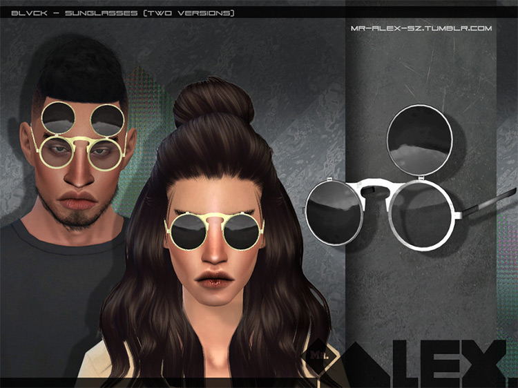 BLVCK Sunglasses mod for Sims 4