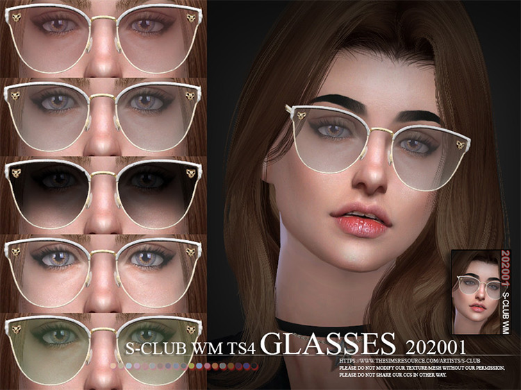 WM Glasses 202001 mod for Sims 4
