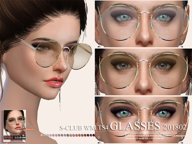WM Glasses 201802 Sims 4 mod screenshot