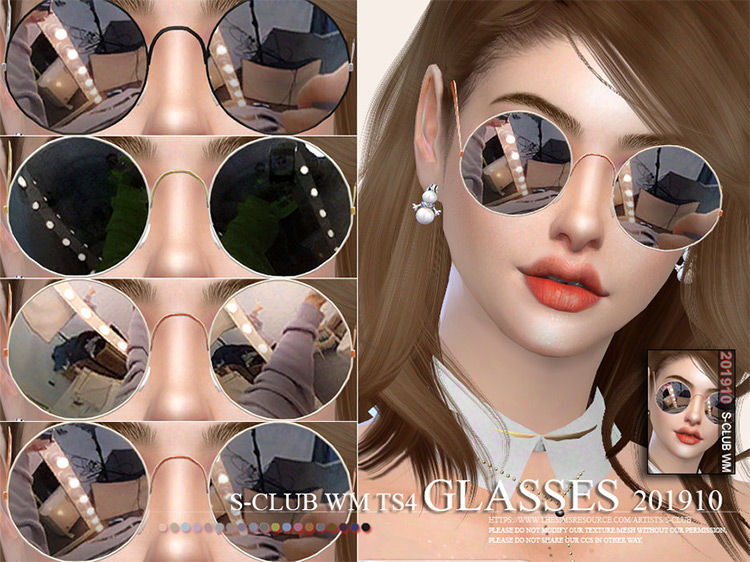WM Glasses 201910 Sims 4 mod