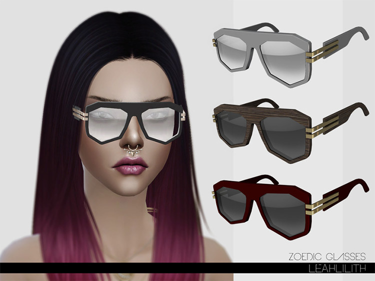 Zoedic Glasses Sims 4 mod