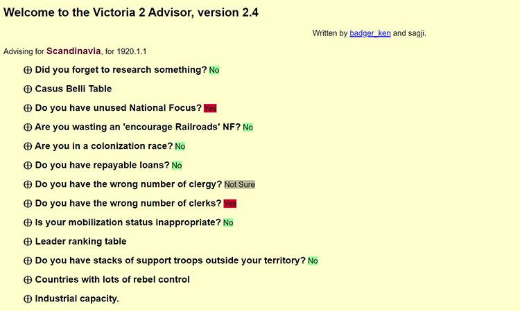 Victoria 2 Advisor game mod