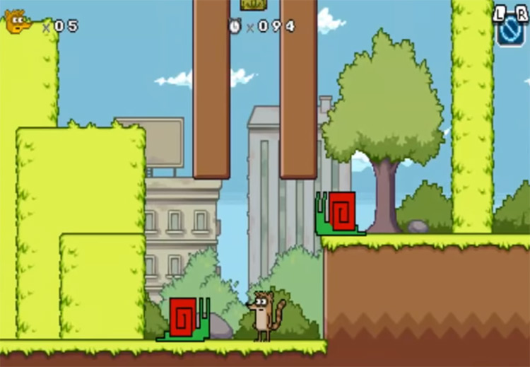 Regular Show: Mordecai and Rigby in 8-Bit Land gameplay