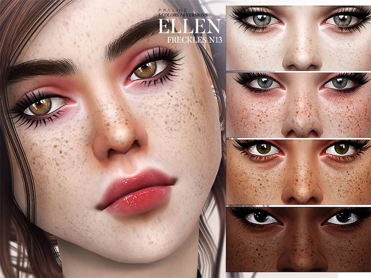 Ellen Freckles Sims 4 mod screenshot