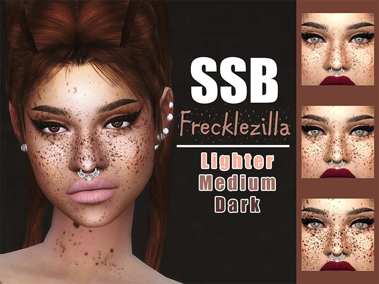 Frecklezilla Face & Body Freckles Sims 4 mod