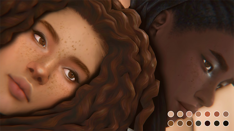 Naomi Freckles Sims 4 mod