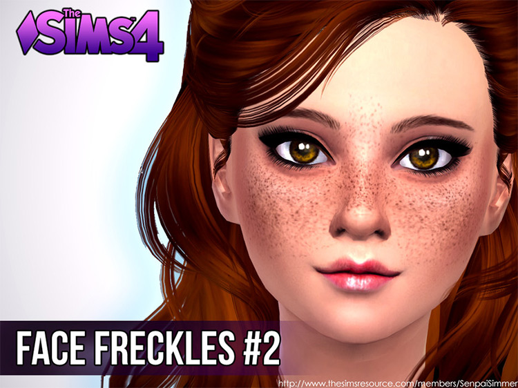 Face Freckles #2 mod for Sims 4