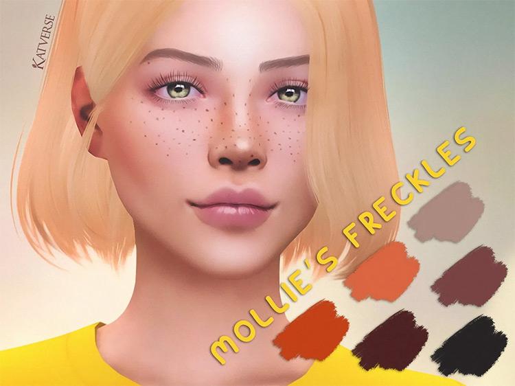 Mollie's Freckles Sims 4 mod