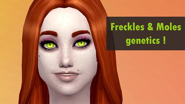 Moles & Freckles Genetics Sims 4 mod